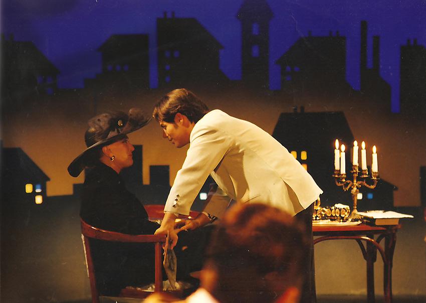 Gyertyafényben, MTV, 1996. A felvétel előtti pillanatok: Szász Lula, Harle Tamás