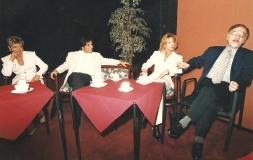 Gyertyafényben, MTV, 1996. Sajtótájékoztató a sorozat elindulása előtt: Albert Györgyi, Harle Tamás, Ungár Anikó, Vágó István